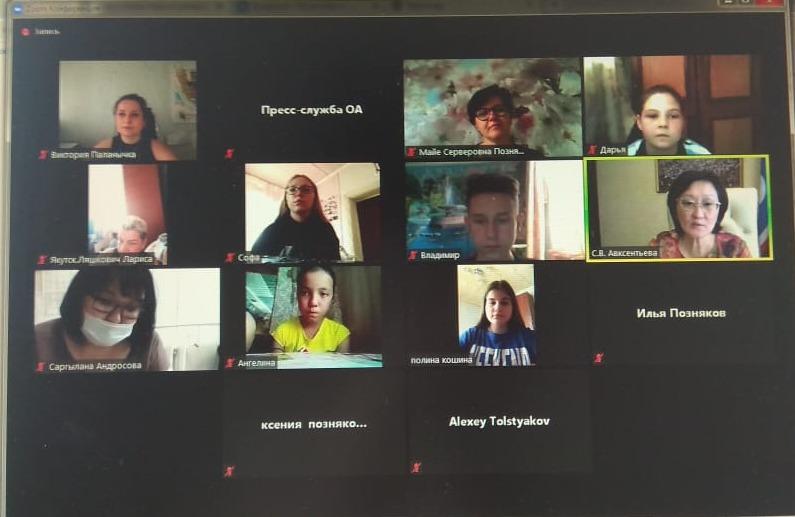 Сардана Авксентьева ответила на вопросы школьников из Табаги