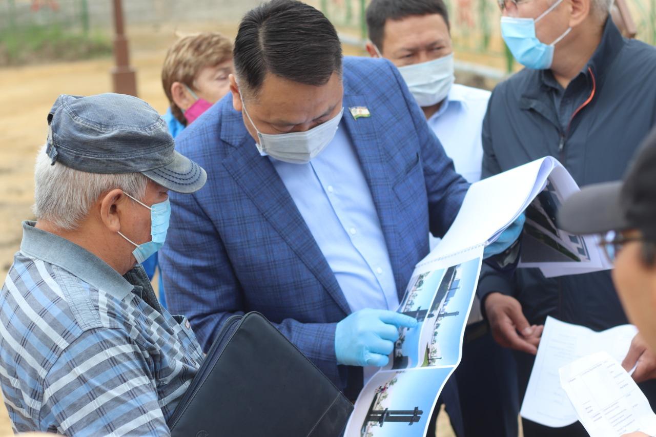 В Сайсарском округе возобновятся работы по строительству сквера Владимира Лонгинова