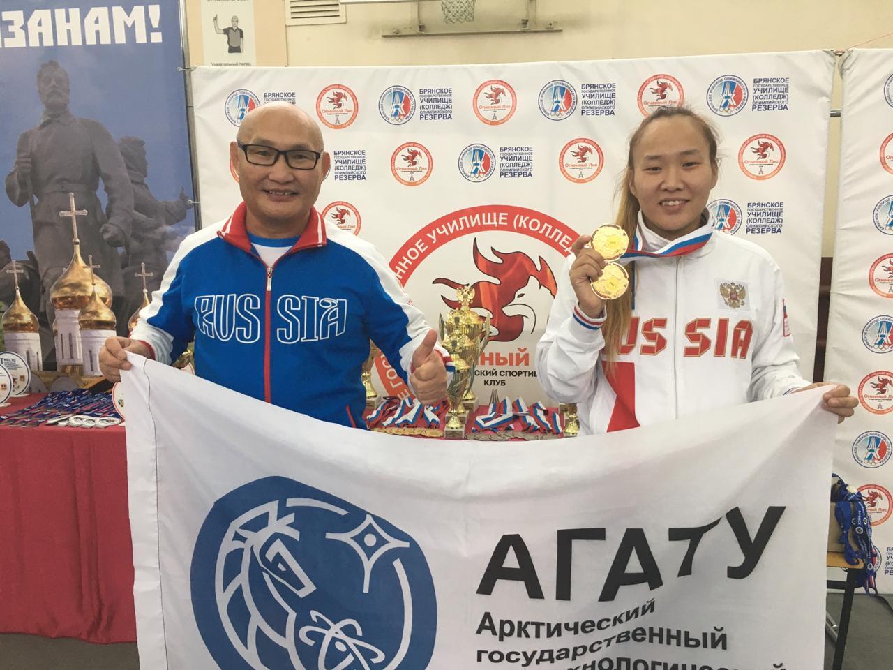 Студентка АГАТУ выиграла две золотые медали на чемпионате России по пауэрлифтингу