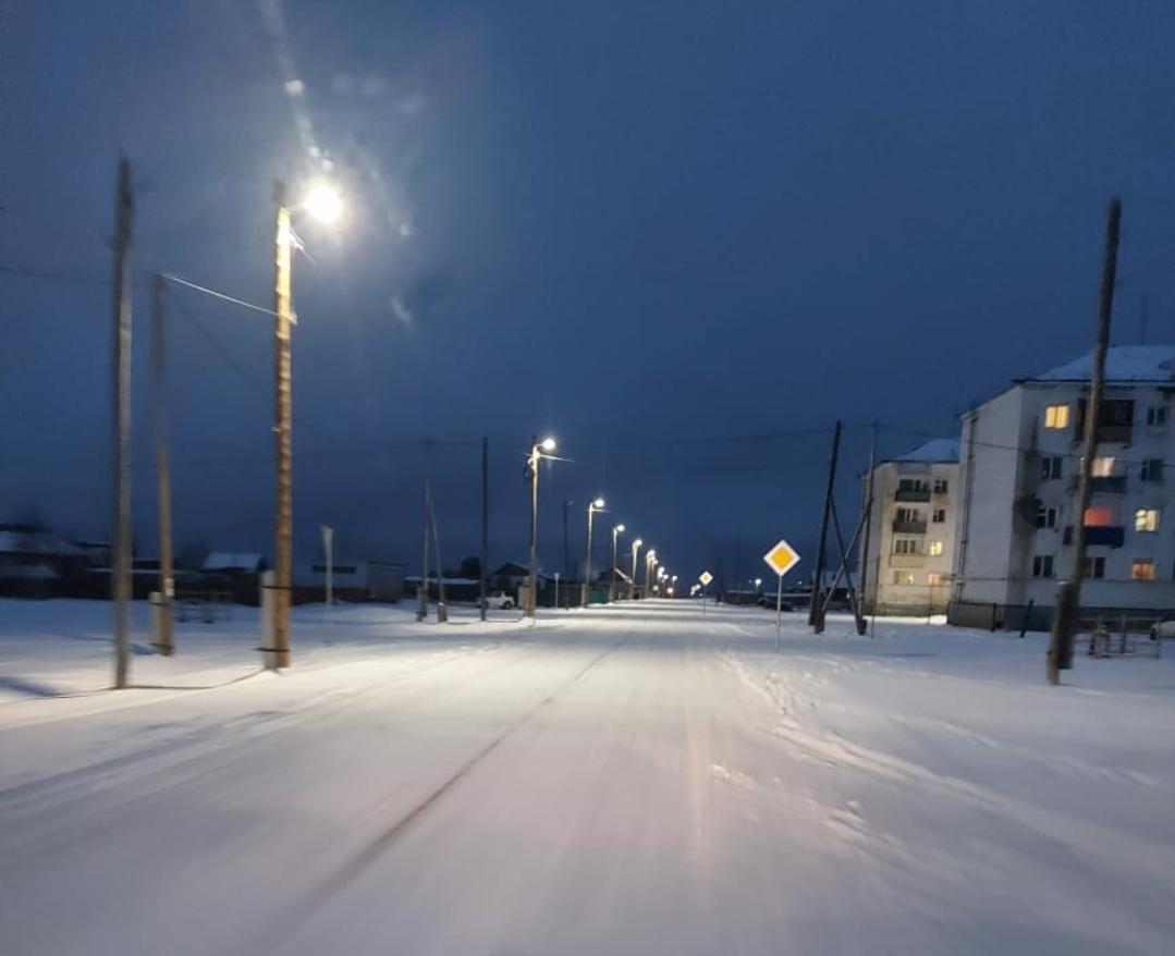 «Светлая столица»: в селе Сырдах установили новое освещение на улице Связистов