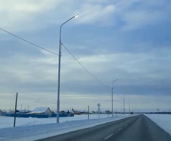 На автодороге регионального и межмуниципального значения «Умнас» провели пробный запуск наружного освещения