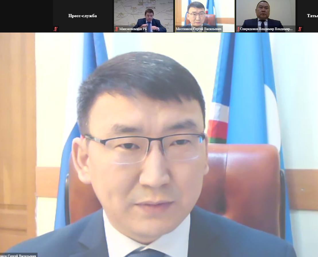 У Сергея Местникова обсуждены перспективы сотрудничества Якутии и Беларуси