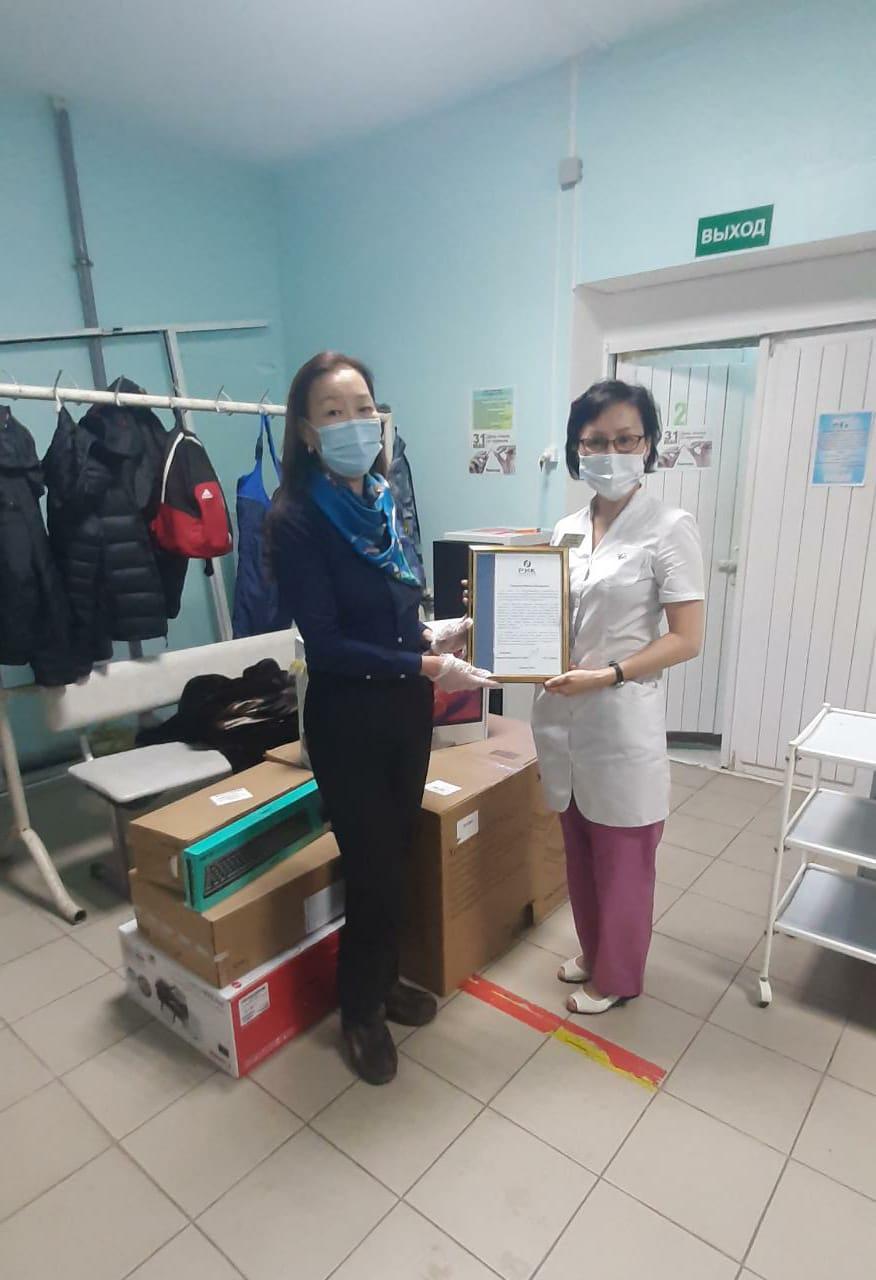 Компания РИК подарила Якутской республиканской клинической больницы оргтехнику