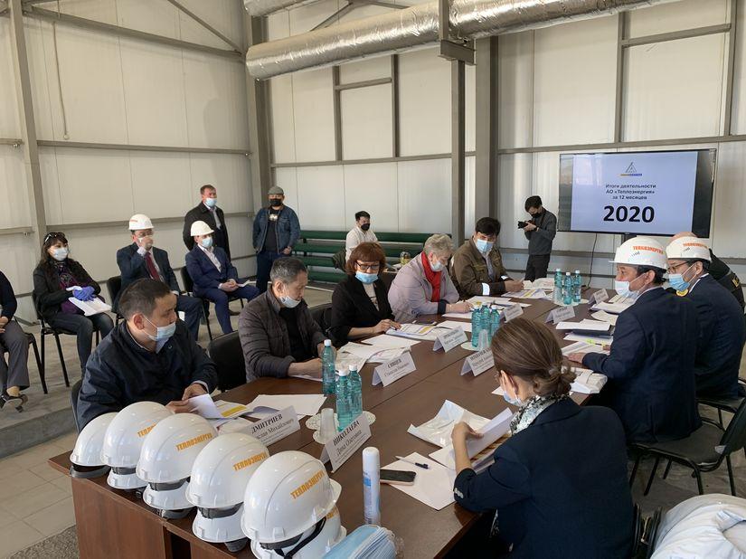 Состоялось выездное заседание постоянной комиссии в АО «Теплоэнергия»