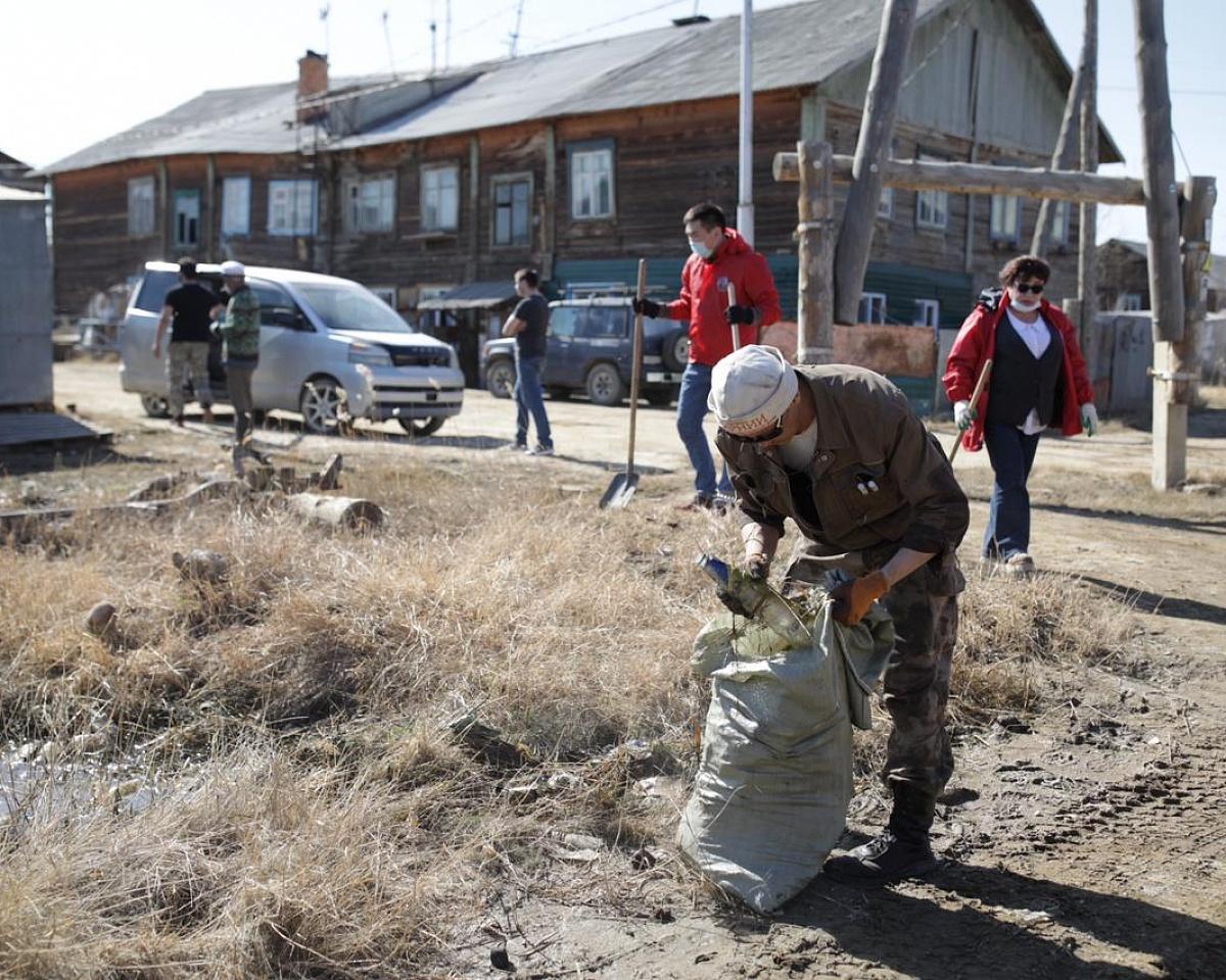 Акция «Чистый город» прошла в Строительном округе