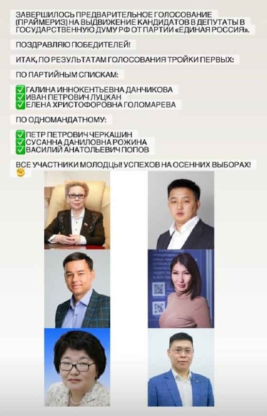 Данчикова и Черкашин будут представлять на выборах Госдумы «Единую Россию»
