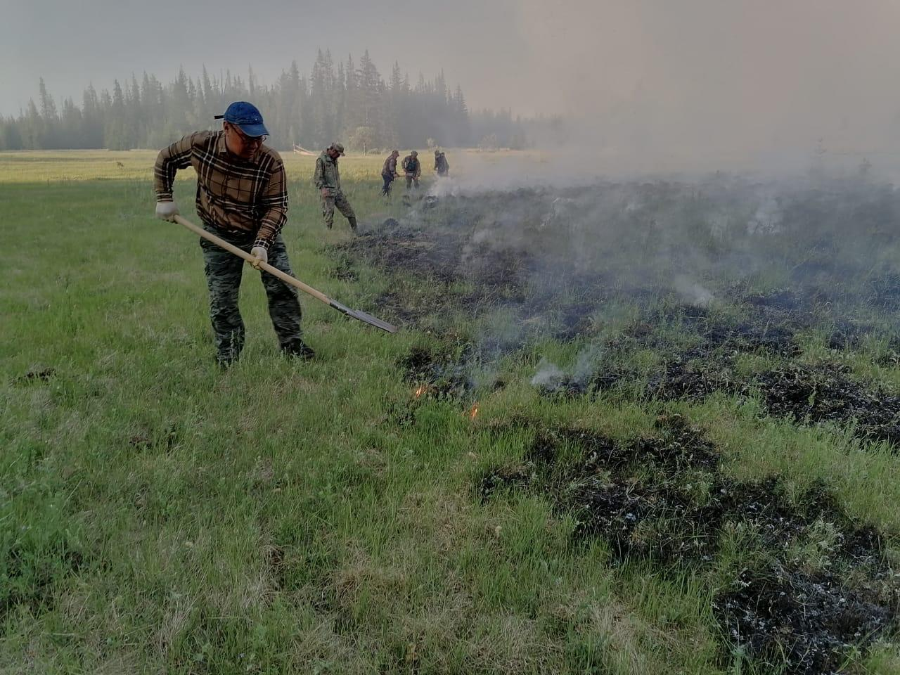О ситуации по тушению лесных пожаров в Сунтарском улусе
